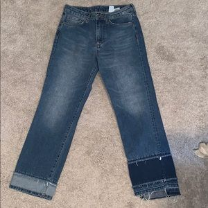 H&M Straight Cropped High Waist Jeans